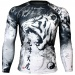 Btoperform Roaring Tiger Full Graphic Compression Long Sleeve Shirts FX-138