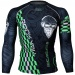 Btoperform Rock You Green Full Graphic Compression Long Sleeve Shirts FX-141G