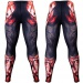 Btoperform Dark Knight - Crimson Full Graphic Compression Leggings FY-135C