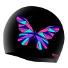 SD Cristal Butterfly Silicon Swimming Cap Black