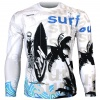 Btoperform Surf Full Graphic Loose-fit Long Sleeve Crew neck Shirts FR-159