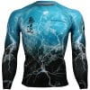 Btoperform No Retreat Thunder Blue FX-103B Compression Top MMA Jersey Shirts