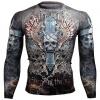 Btoperform Skull Cross FX-106 Compression Top MMA Jersey Shirts