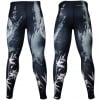 Btoperform Blade - Black Full Graphic Compression Leggings FY-134K
