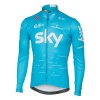Castelli Team Sky Long Sleeve Thermal Jersey Sky Blue