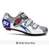 Sidi Genius5 Fit Road Bike Cycling Shoes White Silver Blue