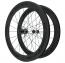 Knight Composites 65W-Dt Swiss 240s Carbon Clincher Rear Wheelset- 700c Black