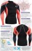 FIXGEAR C3L-B70R Skin-tight Compression Base Layer Shirt Training Workout Gym MMA