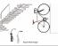 Ibera IB-ST3 Bicycle Wall Hanger Black