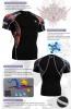 Fixgear Printed BaseLayer Compression Skin Top Tights Short Sleeves Shirts C2S B30