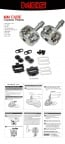 MKS MM-cube clipless bicycle pedals with cleat