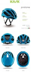 Kask Protone Helmet White Light Blue